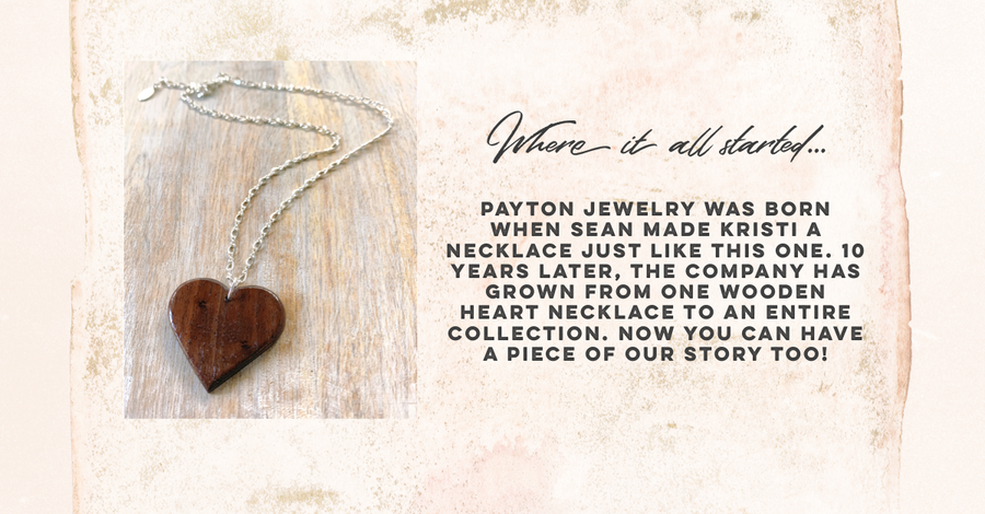 Payton Wood Heart Leather Necklace