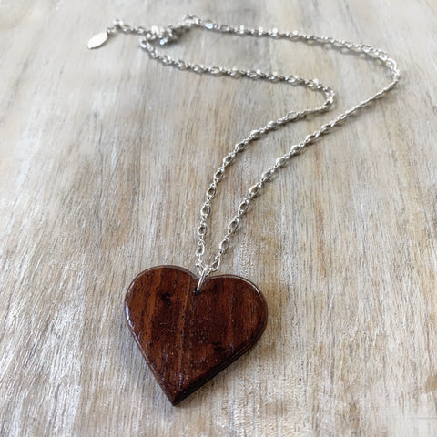 Payton Wood Heart Necklace