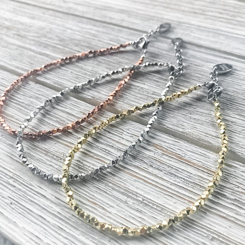 Mixed Metal Anklet