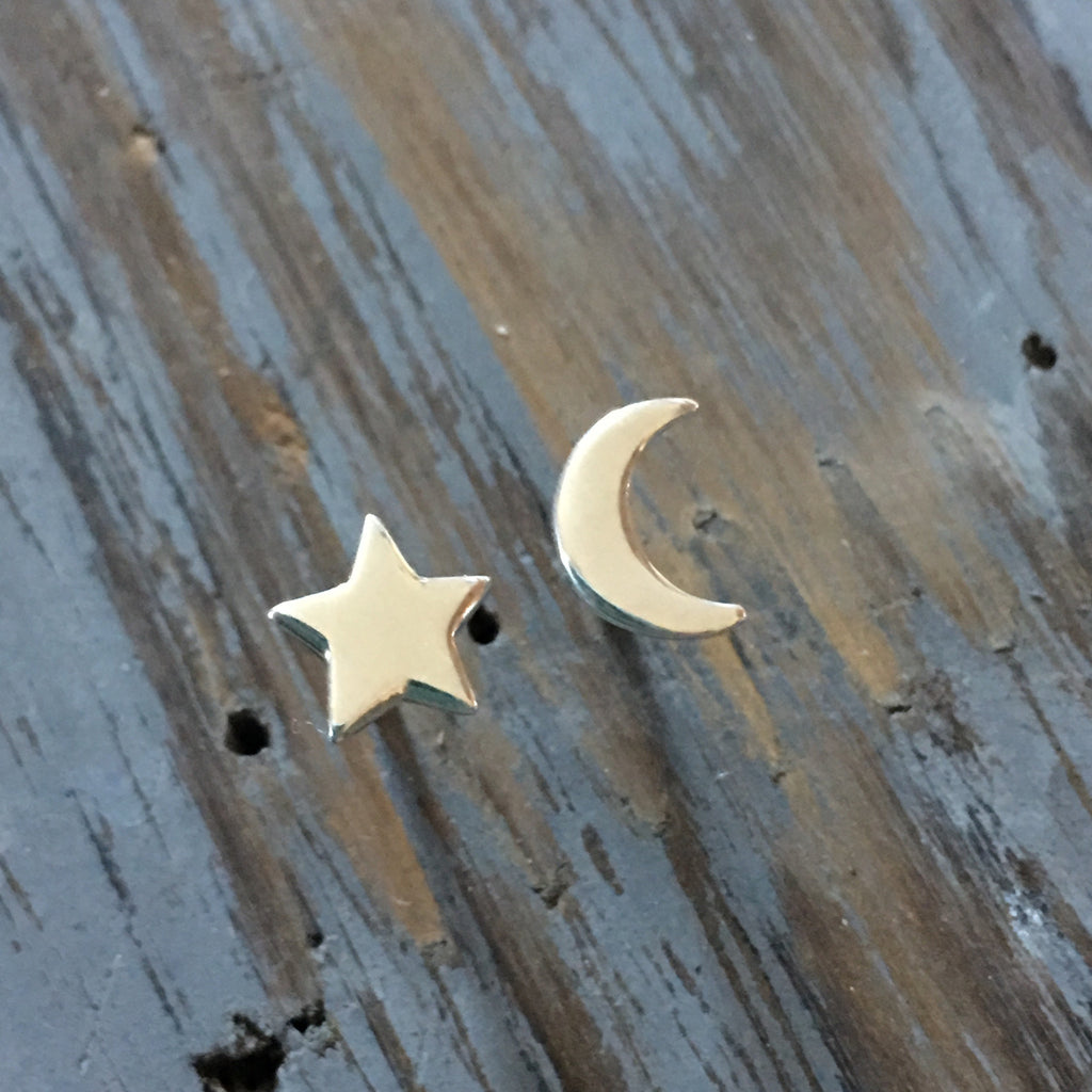 Crescent Moon and Star Earrings