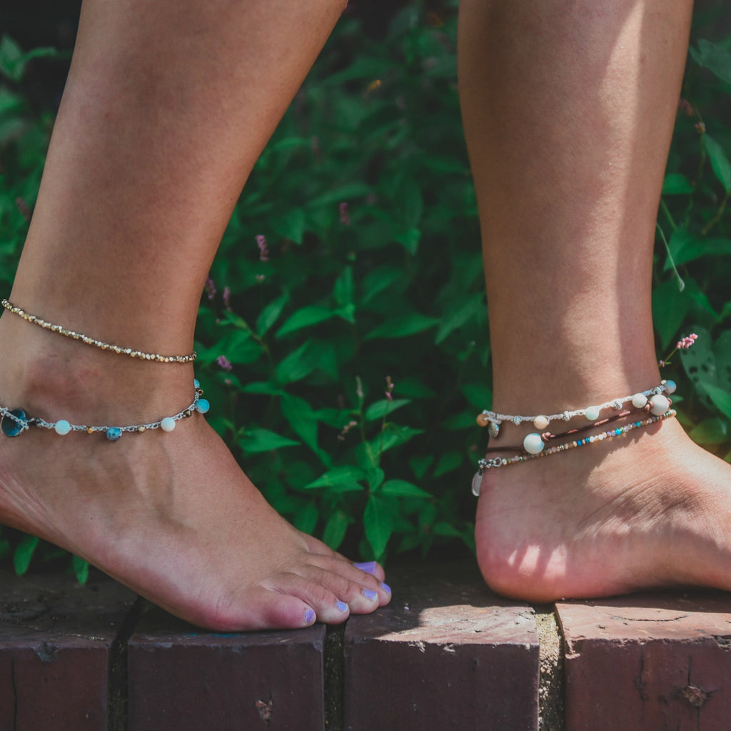 Amazonite Crocheted Anklet
