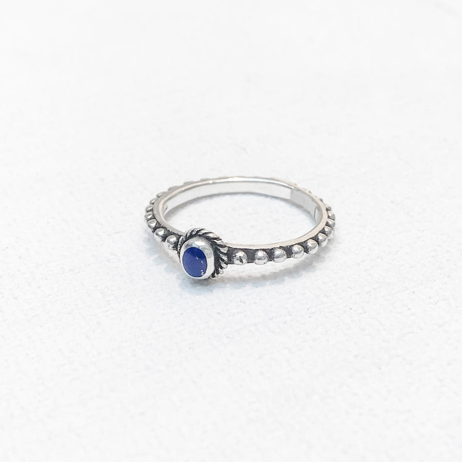 Lapis Dot Ring