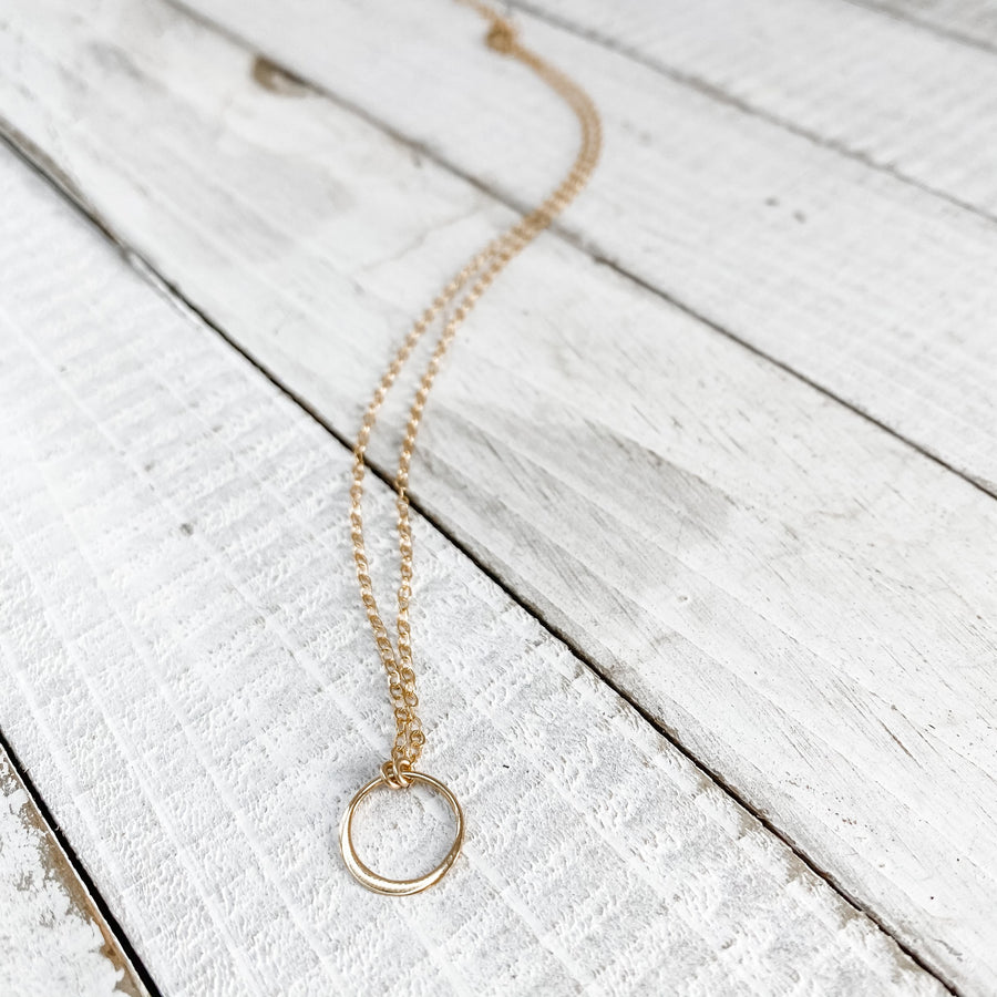 Mini Karma Circle Necklace
