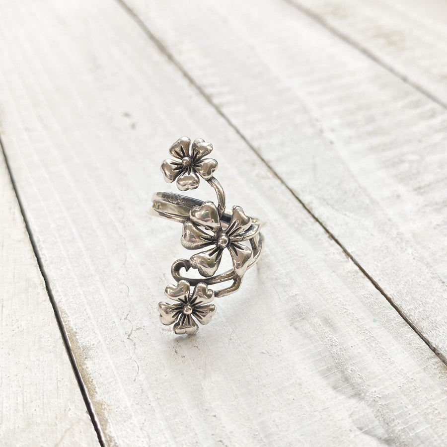 Cascading Flowers Ring | Small