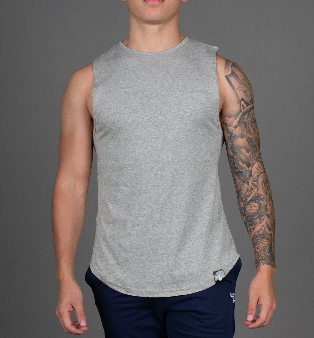 Standard Cut-Off Tee - Grey