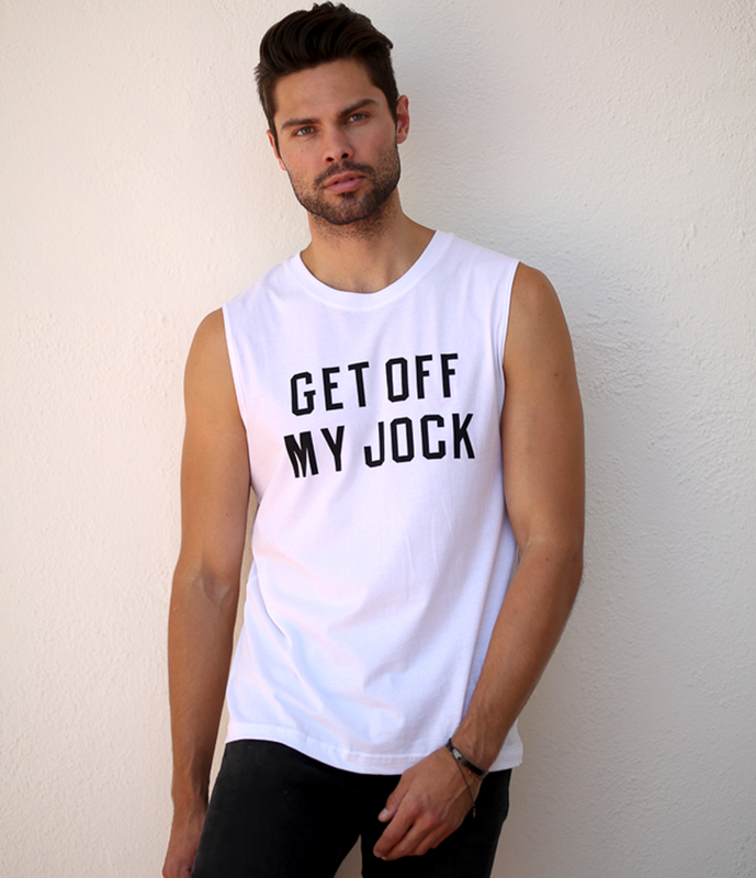 """Get Off My Jock"" Men's Muscle Tee"