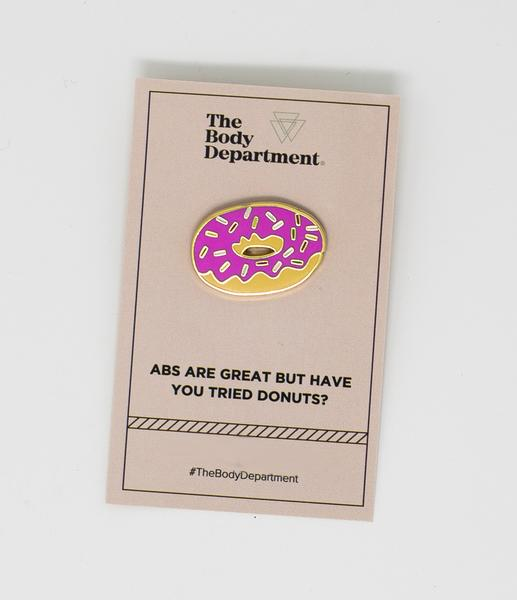 """Sugar-Free"" Donut Pin"