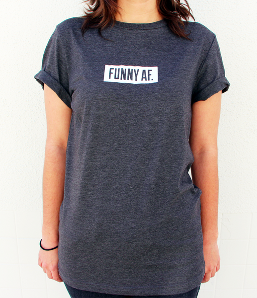 FUNNY AF Unisex Tshirt by Whohaha