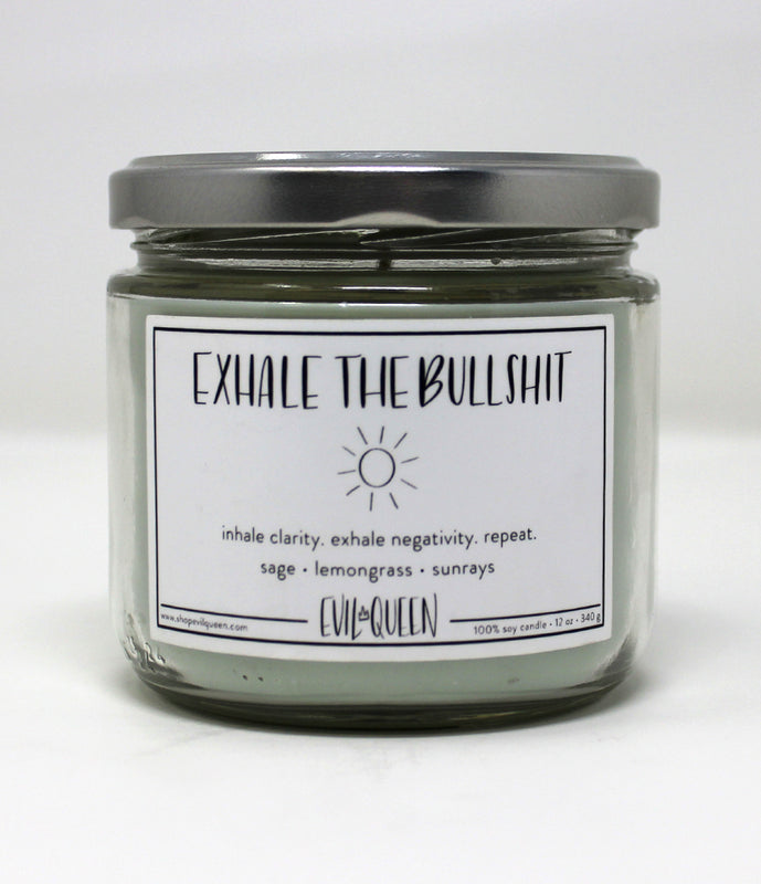 """Exhale The Bull Shit"" Candle"