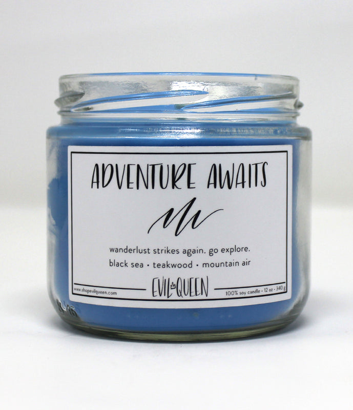 """Adventure Awaits"" Candle"