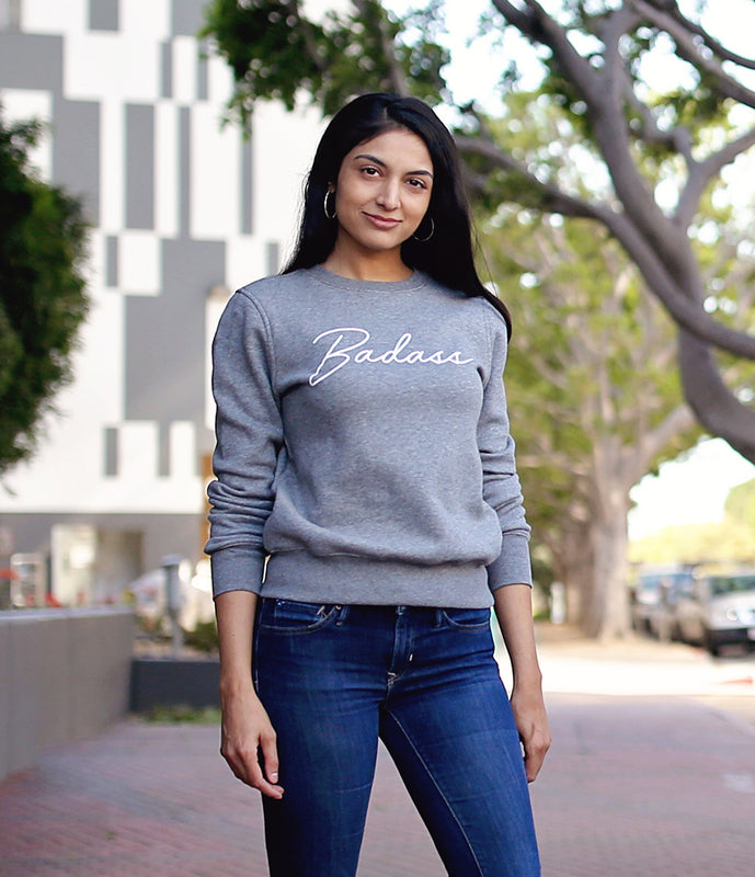 """Badass"" Sweatshirt in Grey"