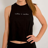 """Coffee + Cardio"" Crop Tank"