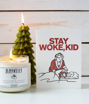 """Stay Woke, Kid"" Holiday Card"