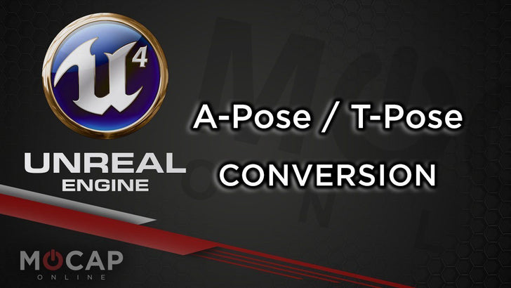 """A"" POSE OR ""T"" POSE  CONVERSION -  UNREAL ENGINE RETARGET MANAGER"