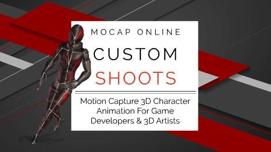 MOCAP ONLINE SHOOTS (BETA) - Custom 3D Motion Capture Animation for Game Development and CG Production.