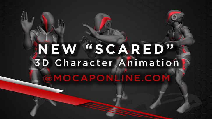 NEW! Scared 3D Character Animations for Game Development & 3D Production.