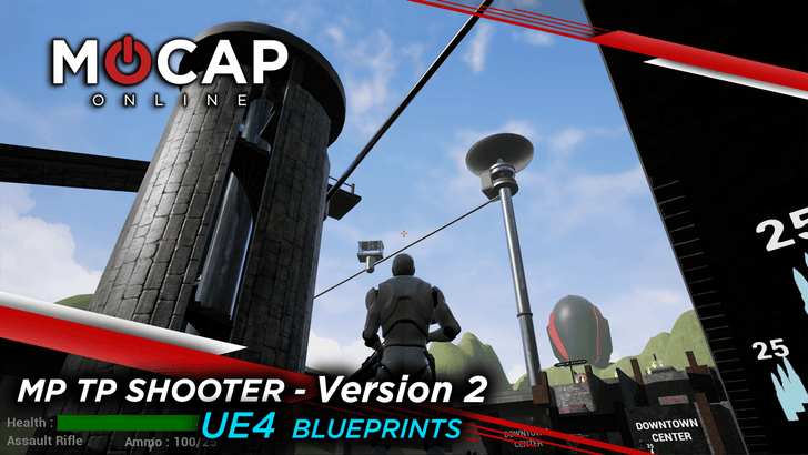 UE4 Multiplayer Shooter V2: Blueprints & MoCap Animations - RELEASED