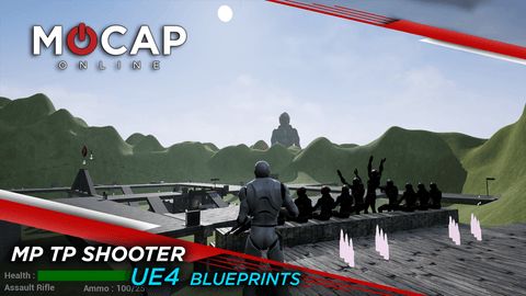 UE4 Multiplayer Third Person Shooter Blueprints - FREE Playable Demo!