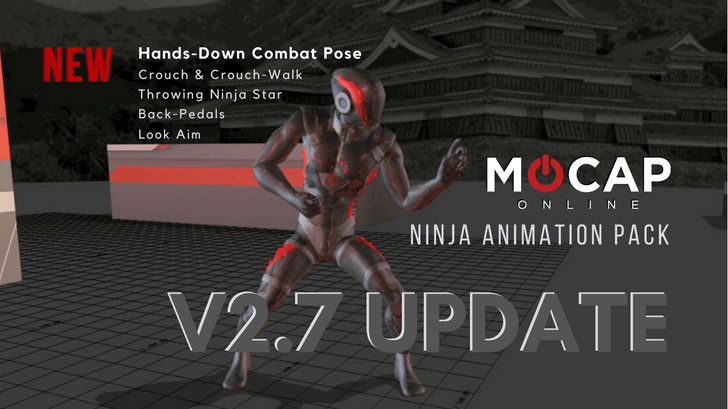 Update: Ninja Animation Pack 2.7 | MoCap Online