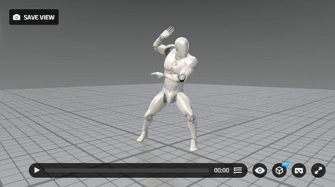 MoCap Online in SketchFab 3D Viewer