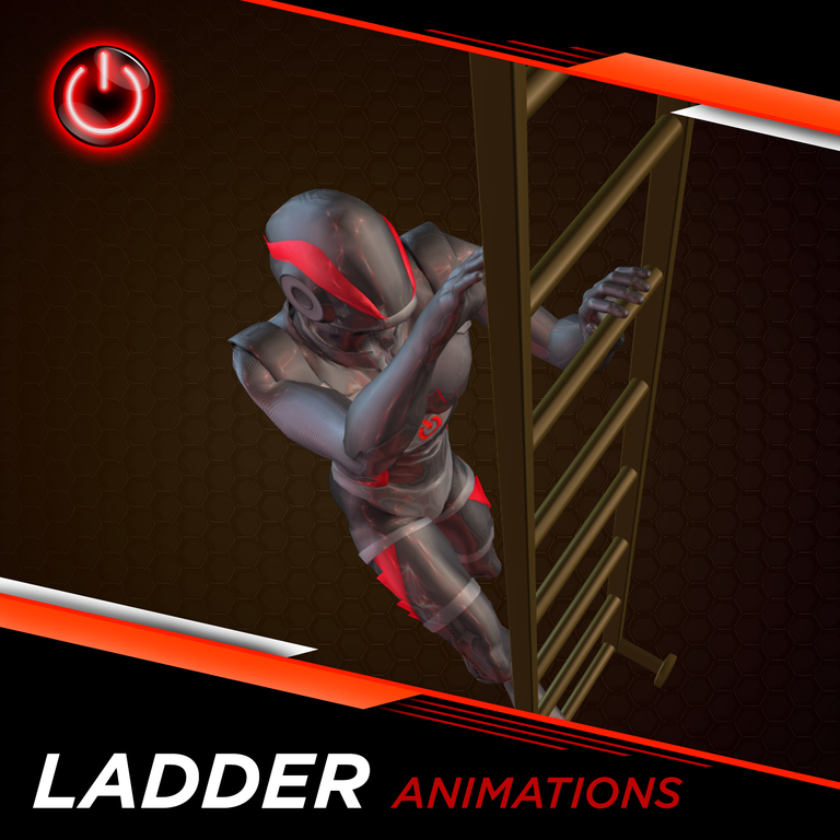 Ladder - 3D Character Animations ~ in Blender Format