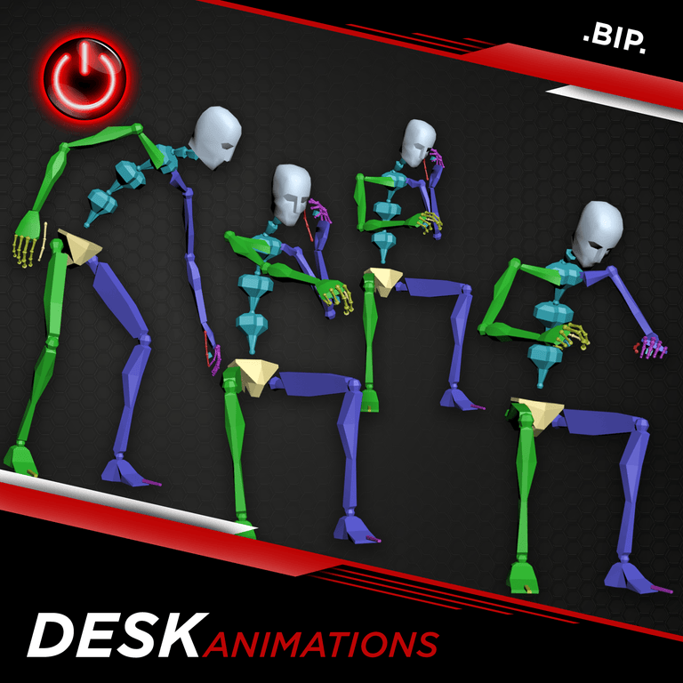 [BIP] Office-Desk Animations