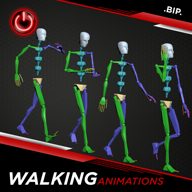 [BIP] Walking Animations