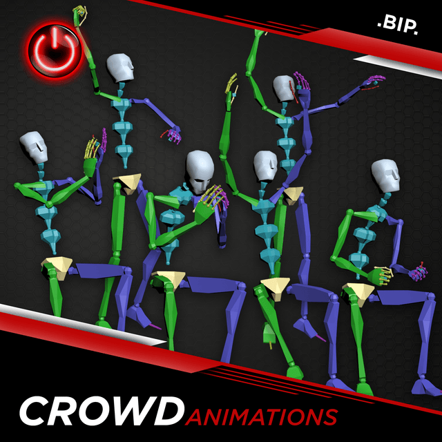 Crowd - 3D Character Animations Life MoCap Online BIP