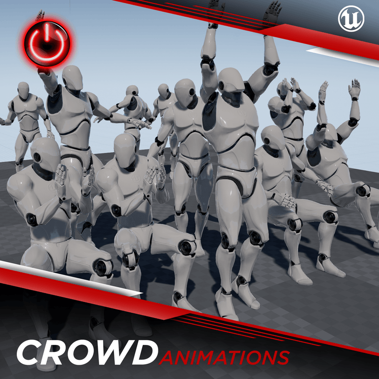 Crowd - 3D Character Animations Life MoCap Online UE4