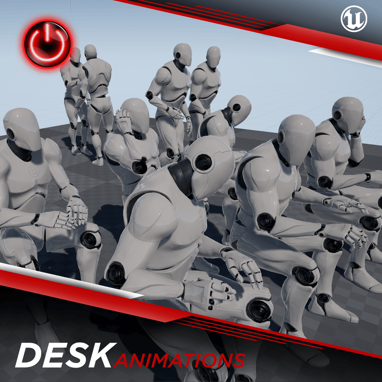 Office / Desk - 3D Character Animations Life MoCap Online