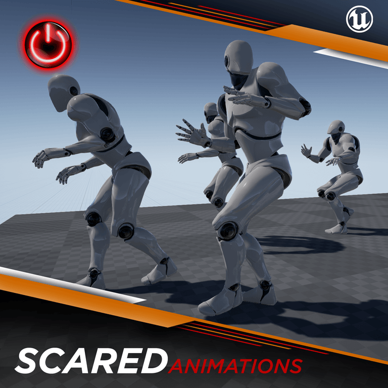 Scared - 3D Character Animations Life Motus Digital UE4