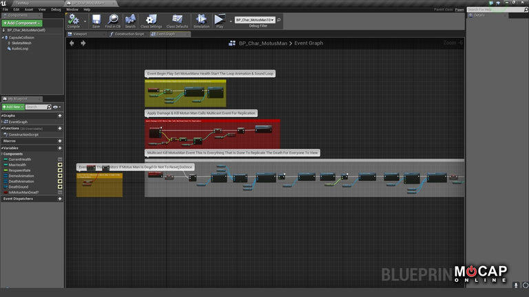 [UE4] Blueprints: Multiplayer 3rd Person Shooter