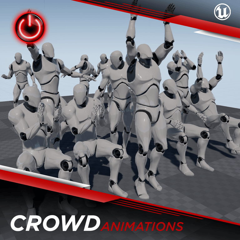 [UE4] Crowd Animations