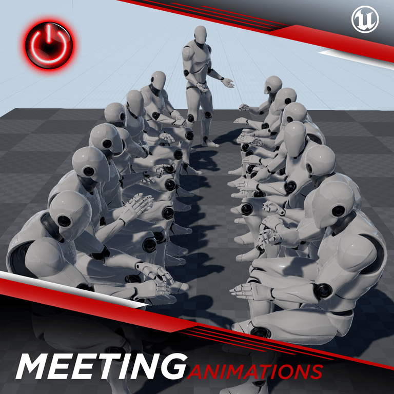 [UE4] Office-Meeting Animations