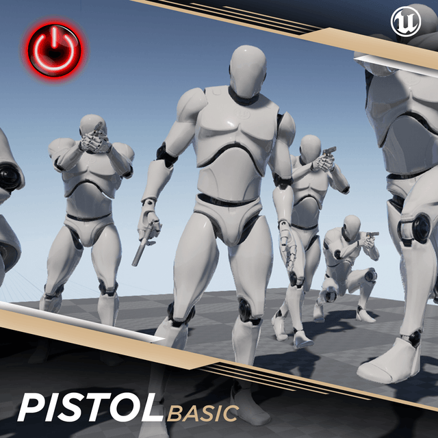 Pistol Basic - 3D Character Animations