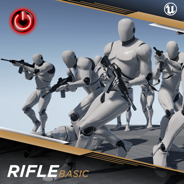 Rifle Basic - 3D Character Animations