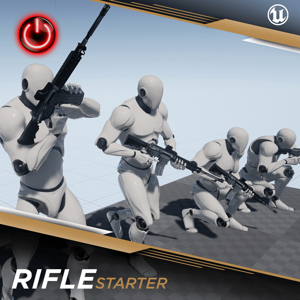 Ue4  Rifle Starter  3d Character Animation Pack