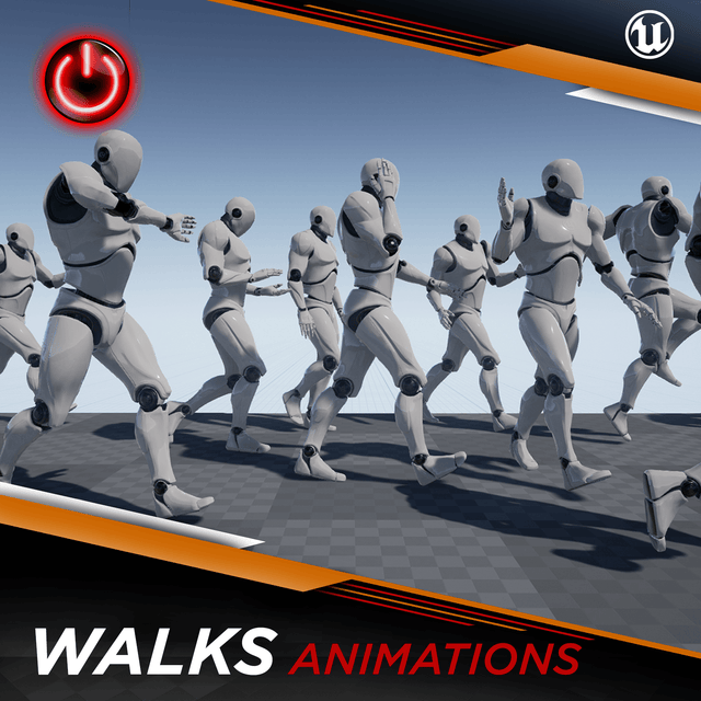 [UE4] Walking Animations