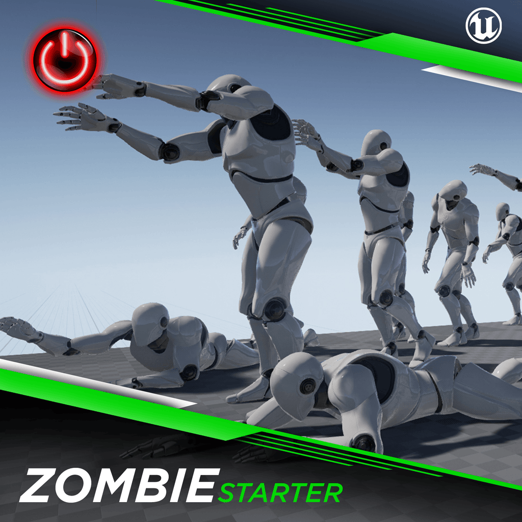 Ue4  Zombie Starter  3d Character Animation Pack