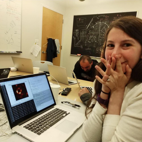 Katie Bouman, the scientist who created the algorithm for the image of the black hole