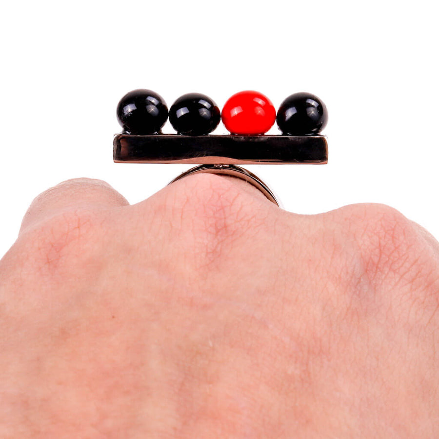 Centouno Black & Red Ring