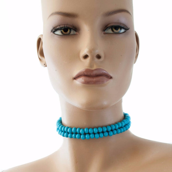 Centouno Azure Choker Necklace Necklace by Cosima Montavoci - Co Glass Jewellery