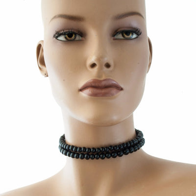 Centouno Black Choker Necklace Necklace by Cosima Montavoci - Sunset Yogurt
