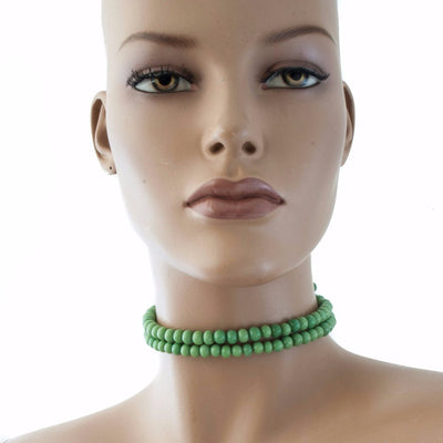 Centouno 60's Green Choker Necklace Necklace by Cosima Montavoci - Sunset Yogurt