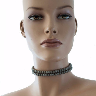 Centouno Grey Choker Necklace Necklace by Cosima Montavoci - Sunset Yogurt
