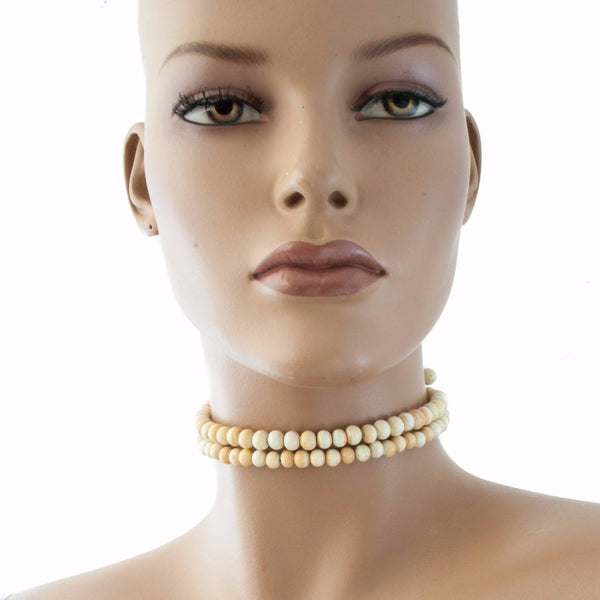 Centouno Ivory Choker Necklace Necklace by Cosima Montavoci - Co Glass Jewellery