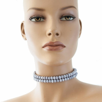 Centouno Marble Lilac Choker Necklace Necklace by Cosima Montavoci - Co Glass Jewellery