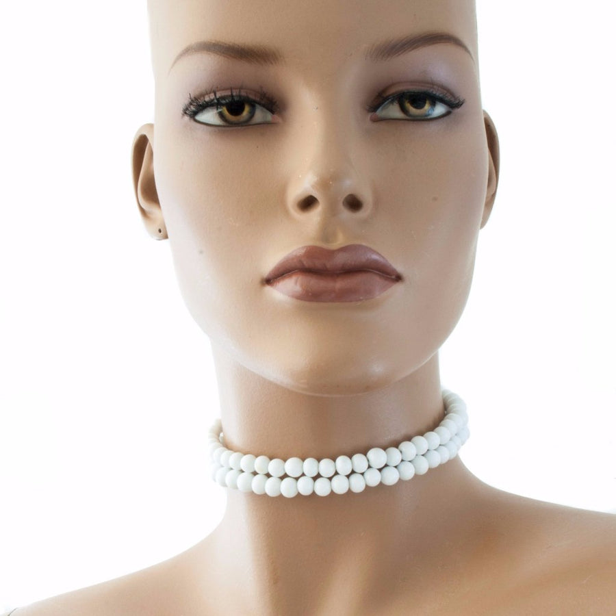 Centouno White Choker Necklace