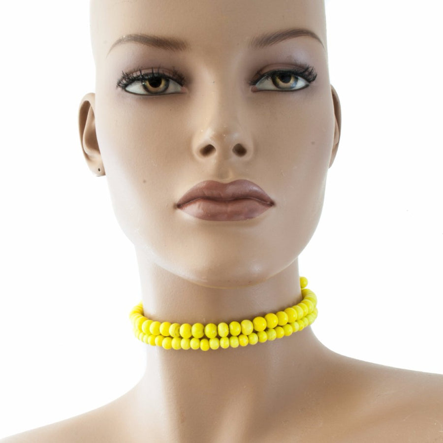 Centouno Yellow Choker Necklace
