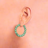Centouno 60's Green Round Earrings Earrings by Cosima Montavoci - Co Glass Jewellery